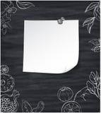 Grauer Hintergrund mit weißen tropischen Früchten lizenzfreie abbildung