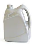Grauer Kanister mit Maschinenöl Lizenzfreie Stockbilder