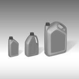 Grauer Kanisterplastiksatz lizenzfreie abbildung
