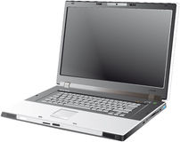 Grauer Laptop - Vektor stock abbildung