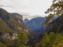 Grauer Morgen über Yosemite-Tal lizenzfreies stockfoto