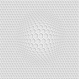 GRAUER nahtloser Muster 3D ZOOM Lizenzfreie Stockfotos