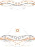 Grauer orange symmetrischer abstrakter mit Blumenhintergrund Stockfotos