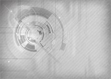 Grauer Technologiehintergrund Stockbilder