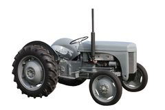 Grauer Traktor. Lizenzfreies Stockfoto