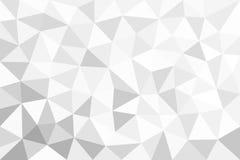 Grauer trigonal, polygonaler Hintergrund Lizenzfreie Stockfotos
