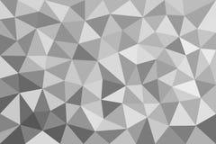 Grauer trigonal, polygonaler Hintergrund Stockbilder