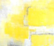 Grauer und gelber abstrakte Kunst-Anstrich Lizenzfreies Stockbild