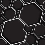 Grauer und schwarzer Hexagonhintergrund vektor abbildung