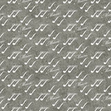 Grauer und weißer Musik-Symbol-Fliesen-Muster-Wiederholungs-Hintergrund Lizenzfreie Stockfotos