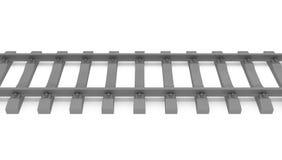 Graues 3d befördert horizontales mit der Eisenbahn Lizenzfreie Stockbilder