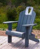 Graues Blau hölzernen Muskoka-Stuhls Lizenzfreies Stockfoto