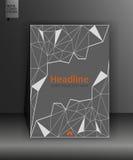 Graues Buchdesign in niedrigem Poly Jahresbericht mit geometrischer Feige Stockbild