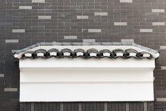 Graues Dach und Wand Stockbild