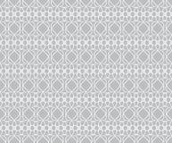 Graues dekoratives nahtloses Weinlesemuster des Musters Stockbild