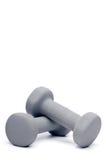Graues dumbell geben Gewichte frei Stockfotos