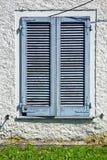 Graues Fenster viladosia Palastitalien-Zusammenfassungsgras Stockfotografie