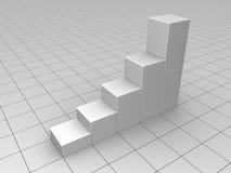 Graues Geschäfts-Diagramm vektor abbildung