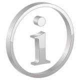 Graues Info-Symbol Lizenzfreie Stockfotos