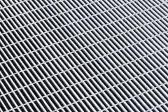 Graues Metallgitter, abstraktes Hintergrundmuster Lizenzfreie Stockbilder
