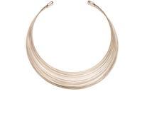 Graues Metallrunde Halskette lizenzfreies stockbild