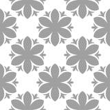 Graues nahtloses mit Blumenmuster auf weißem Hintergrund Lizenzfreie Stockbilder