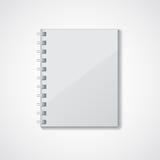 Graues Notizbuch Stockbild
