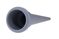 Graues PVC-Abwasserrohr Stockfotos