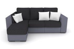 graues Sofa mit weißen Kissen Lizenzfreie Stockbilder