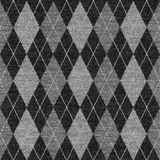 Graues Tartan knitwork Muster Lizenzfreies Stockfoto