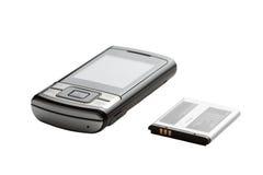 Graues Telefon-slajder und Druckspeicher lizenzfreie stockbilder