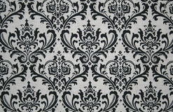 Graues und schwarzes Damast-Muster Stockbild