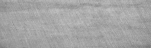 Graues Weiß des natürlichen Leinwandhintergrundes Stockfoto
