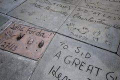 Grauman的中国剧院,好莱坞,洛杉矶,美国 库存图片