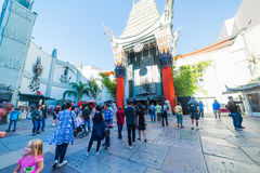 Grauman ` s Chiński teatr na Hollywood bulwarze Zdjęcie Stock