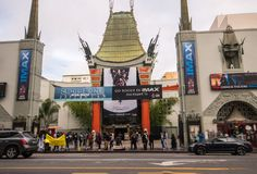Grauman` s Chinees Theater in Hollywood, CA royalty-vrije stock foto