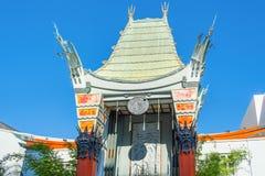 Grauman`s Chinese Theater on Hollywood Boulevard. LOS ANGELES, CALIFORNIA - NOVEMBER 02, 2016: Grauman`s Chinese Theater on Hollywood Boulevard royalty free stock photo