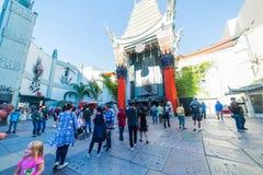Grauman`s Chinese Theater on Hollywood Boulevard. LOS ANGELES, CALIFORNIA - NOVEMBER 02, 2016: Grauman`s Chinese Theater on Hollywood Boulevard stock photo