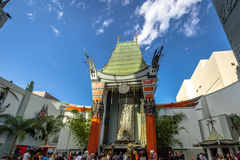 Grauman`s Chinese Theater on Hollywood Boulevard - Los Angeles, California, USA Stock Images