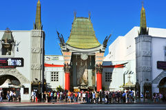 Grauman's Chinese Theatre in Hollywood Boulevard. LOS ANGELES - OCTOBER 16: Grauman's Chinese Theatre on October 16, 2011 in Los Angeles. There are nearly 200 royalty free stock photos
