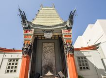 Grauman`s Chinese Theatre at Hollywood Boulevard on the August 11th, 2017 - Los Angeles, CA. USA stock images