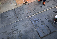 Grauman's chinese theatre, Hollywood, Los Angeles, usa Royalty Free Stock Images