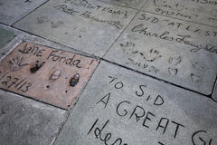 Grauman's chinese theatre, Hollywood, Los Angeles, usa. LOS ANGELES, CALIFORNIA - APRIL 12, 2015 : exteriors of the Grauman's chinese theatre, in Hollywood, Los stock image