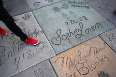 Grauman's chinese theatre, Hollywood, Los Angeles, usa Royalty Free Stock Photography