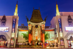 Grauman's Chinese Theatre. LOS ANGELES, CALIFORNIA - MARCH 1, 2016: Grauman's Chinese Theater on Hollywood Boulevard. The theater has hosted numerous premieres stock image