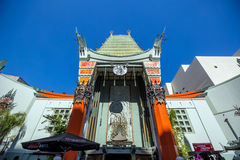 Grauman's Chinese Theatre. LOS ANGELES - OCTOBER 25: Grauman's Chinese Theatre on October 25, 2014 in Los Angeles, CA. There are nearly 200 Hollywood celebrity stock photos