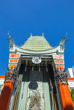 Grauman's Chinese Theatre. LOS ANGELES - OCTOBER 25: Grauman's Chinese Theatre on October 25, 2014 in Los Angeles, CA. There are nearly 200 Hollywood celebrity royalty free stock photography