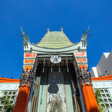 Grauman's Chinese Theatre. LOS ANGELES - OCTOBER 25: Grauman's Chinese Theatre on October 25, 2014 in Los Angeles, CA. There are nearly 200 Hollywood celebrity stock photo