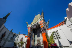 Grauman's Chinese Theatre. LOS ANGELES - OCTOBER 25: Grauman's Chinese Theatre on October 25, 2014 in Los Angeles, CA. There are nearly 200 Hollywood celebrity stock photography