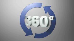 360 graus com as setas de gerencio azuis - vídeo da rendição 3D ilustração do vetor